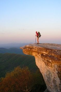 McAfee Knob, in Virginia is one of the most photographed spots on the Appalachian Trail. Such a great photo!