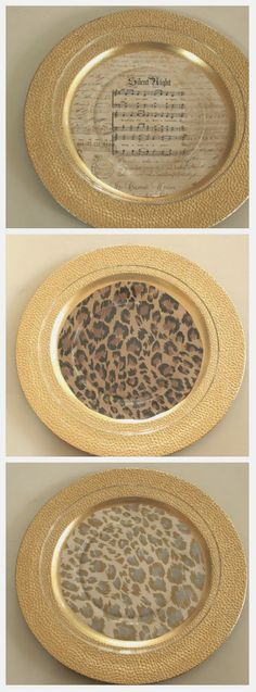 I like using fun wrapping paper as my inspiration for dinner party themes. Just select your favorite paper, trace large circles and use with clear class plates.. The possibilities are endless!