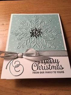 Stampin' Kat: Snowflake Sentiments 2 ways.....2 cards and FREE SHIPPING TODAY!!!!