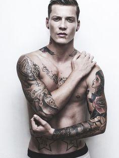 Tattoo gay flip flop with cream flow