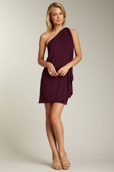 Seriously love this dress...Pure & Simple One Shoulder Dress.