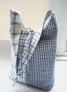 Slouchy shoulder bag tutorial.