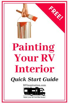 A handy guide with tips, hints, and tricks for how to paint walls and cabinets in your camper, motorhome, or travel trailer. Camper Life, Rv Campers, Rv Life, Paint Rv, Paint Walls, Small Rv, Rv Interior, Motorhome Interior, Rv Makeover