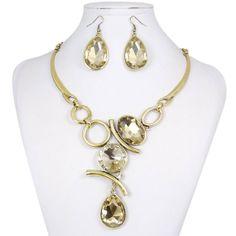 Art Deco Style Rhinestone Jewelry Set Swarovski by CoCoJewelry4u, $12.99