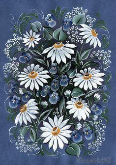 Медитации из отпуска Russian Folk Art, Ukrainian Art, Folk Art Flowers, Flower Art, Fabric Painting, Fabric Art, Deco Paint, Decorated Wine Glasses, Floral Pattern Vector