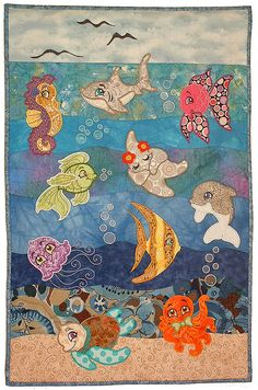 Seaside Applique Wall Hanging