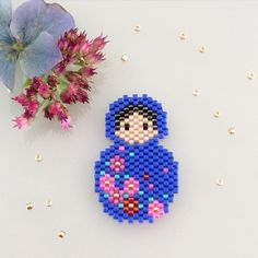 diy perles brick stitch miyuki peyote #perlezmoidamour #jenfiledesperlesetjassume #poupeesrusses
