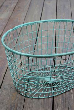 oval metal basket, blue-green. I have this in yellow.