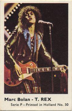 Marc Bolan - T. REX - collectable card