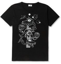 Saint LaurentGrimes Printed Cotton-Jersey T-Shirt