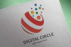 Digital Circle Logo by tkent on @creativemarket