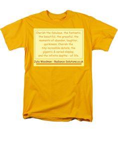 Cherish T-Shirt featuring the digital art Cherish The Fabulous by Julia Woodman
