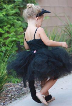 Black Cat tutu costume. Fácil y Sencillo: DIY - Disfraces Preciosos de Tul para Niñas