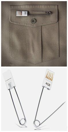 Easy to carry and not easy to lose /  Compact pin USB flash drive design