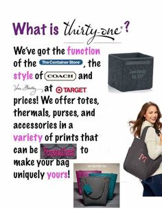 Ask me about Thirty One Gifts! At mythirtyone.com/1762617