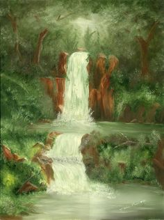 """The Waterfall""  Oil Painting by Marie Parsons(SOLD)"