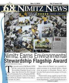 Nimitz News Daily Digest - Dec. 3, 2013