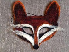 Needle felt fox masquerade mask halloween by TenzinsDeer on Etsy