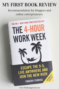 My first personal development book review: The Four Hour Work Week by Tim Ferriss. A must-read book for bloggers, business owners and online entrepreneurs.