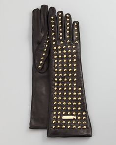 Burberry studded leather gloves