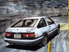 Initial D Wall Art . Initial D Wall Art . Vehicles toyota Initial D Wallpaper Honda S2000, Honda Civic, Manga Anime, Initial D, Bd Comics, Drifting Cars, Car Illustration, Japan Cars, Import Cars