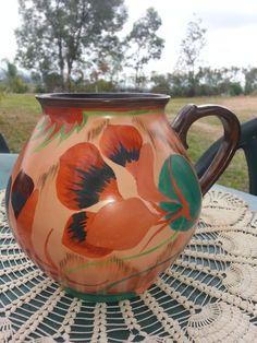 Art Deco Carlton Ware  Nasturtium  Large Handled Vase. Pattern 3565 C: 1931
