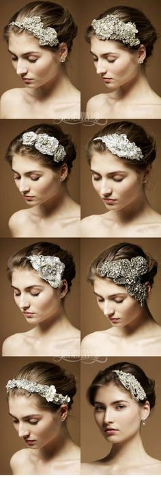 Love these bridal hair accessories! They'd be perfect for a bride with a pixie cut