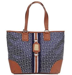Tommy Hilfiger Logo large Travel Tote Bag Handbag Purse Blue White >>> Find out more about the great product at the image link. (This is an affiliate link) Tommy Hilfiger Handbags, Travel Handbags, Purses For Sale, Travel Tote, Blue And White, Tote Bag, Best Deals, Logos, Ebay