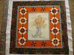 Which Witch's Boot - Crabapple Hill Studio Pieced, embroidered and colored by Debbie Robertson Quilted by Karen Denney
