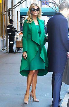 Ivanka Trump, de verde