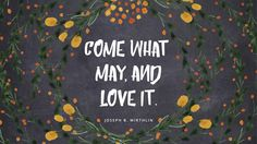 """"""" -Joseph B. Lds Quotes, Wall Quotes, Wisdom Quotes, Great Quotes, Inspirational Quotes, Gospel Quotes, Pillow Quotes, Motivational, Adversity Quotes"""