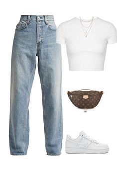 k Outfit | ShopLook Baddie Outfits Casual, Cute Comfy Outfits, Kpop Fashion Outfits, Tomboy Fashion, Mode Outfits, Retro Outfits, Stylish Outfits, Swag Outfits, Teenager Outfits