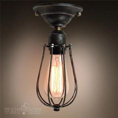 Westmenlights Hallway Industrial Ceiling Light Flush Mount 1 Light Ceiling Lamp…