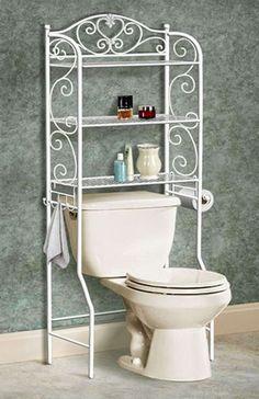 Mueble para ba o de hierro forjado en for Mueble encima wc
