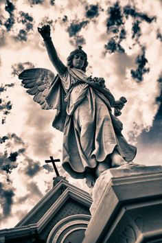"Photo ""Gates Guardian Angel"" by Miguel Angel Bandala Angel Aesthetic, Aesthetic Art, Crying Angel, Statue Tattoo, Angel Sculpture, Old Cemeteries, Cemetery Art, Guardian Angels, Guardian Angel Tattoo"