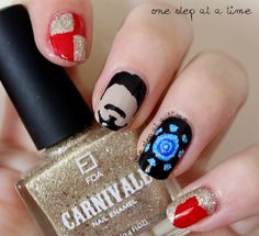 Inspired By: Iron Man / Tony Stark | One Step At A Time #nails #nailart #avengers #marvel #love