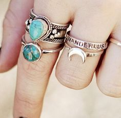 LOVE the Wanderlust and Moon rings