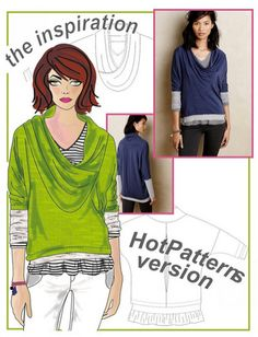 HotPatterns Giveaway: New Layer Cake Tee Pattern | Curvy Sewing Collective | Bloglovin'