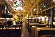 Love the industrial interior design of restaurant Meat West Amsterdam:  http://www.yourlittleblackbook.me/meat-west-amsterdam/