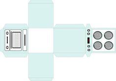 Chá de cozinha + Embalagem Formato de Fogão para lembrancinha | Bridal shower + Stove papercraft