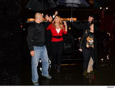 Mariah Carey -- I Don't Do Rain! Send in My Umbrella Team (PHOTOS) - http://blog.clairepeetz.com/mariah-carey-i-dont-do-rain-send-in-my-umbrella-team-photos/