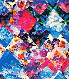 Nicole Miller Rayon Spandex Fabric-Blue Eden