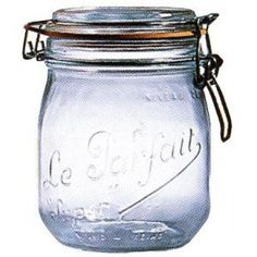 Le Parfait French Glass Canning Jar with 85mm Gasket and Lid - 3/4 (.75) Liter
