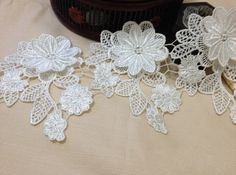 Cheap lace column wedding dress, Buy Quality flower lace fabric directly from China lace gold wedding dress Suppliers: Product width. Australia,Britain and Newzealand faster d Red Tutu, Antique Lace, Lace Flowers, Embroidered Lace, White Roses, Lace Fabric, Lace Trim, Wedding Decorations, Crochet Patterns