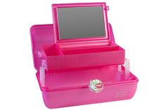 CABOODLES Fun fact: Caboodles was launched in 1986 after Vanna White did an interview showing off the fishing tackle box she used as a makeup kit. And we have to admit, we haven't been as organized since we stopped using ours.