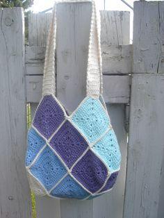 Sac 22 carrés /granny square bag - modèle gratuit/ free pattern