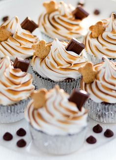 Quite possibly the cutest S'mores Cupcakes ever!