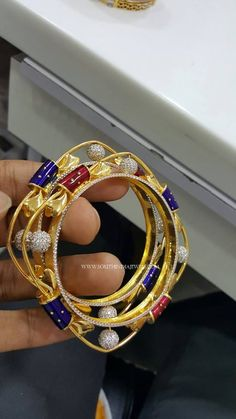 Gold Designer Square Shaped Bangles, Square Bangles in Gold, Gold Square Bangles Designs. Bangle Bracelets With Charms, Gold Bangle Bracelet, Diamond Bangle, Diamond Jewelry, Gold Jewelry, Gold Ring Designs, Gold Bangles Design, Jewelry Design, Gold Gold