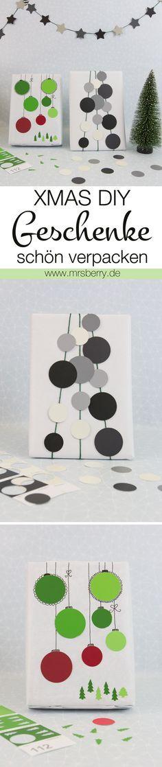 XMAS DIY: Geschenke schön verpacken - hier sind ein paar schöne Idee, wie ich Geschenke schnell und individuell verpacken könnt.