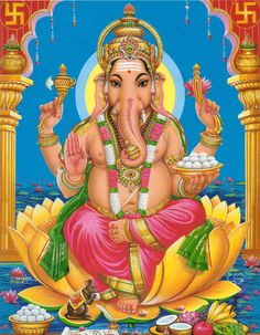 Whatever your worries, leave them to Ganesha. Bad thoughts, allow Ganesha to overtake them. Infinite Love & Many Blessings! Lord Ganesha, Shri Ganesh, Jai Hanuman, Lord Krishna, Lord Shiva, Ganesha Pictures, Ganesh Images, Durga, Deus Vishnu